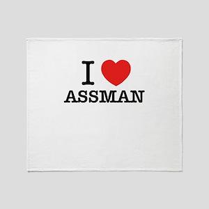 I Love ASSMAN Throw Blanket