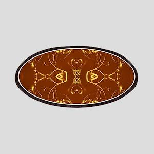 goldene ornamente in braun Patch