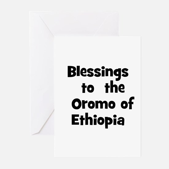 Blessings  to  the  Oromo of  Greeting Cards (Pk o