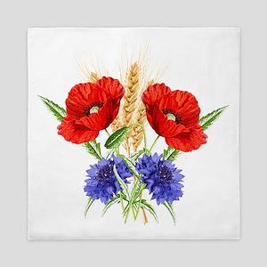 Ukrainian flowers Queen Duvet