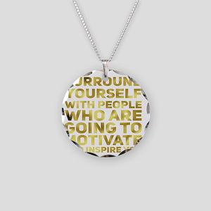Surround Yourself Inspirational Quote Dark Gold Ne