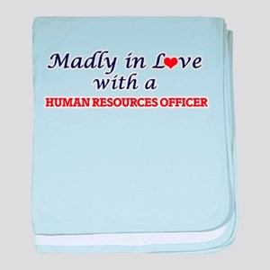 Madly in love with a Human Resources baby blanket