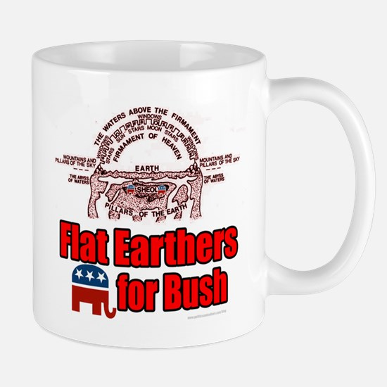 Flat Earthers for Bush Mug