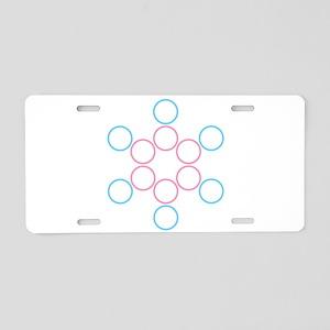 tranSacred circles Aluminum License Plate