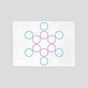tranSacred circles 5'x7'Area Rug