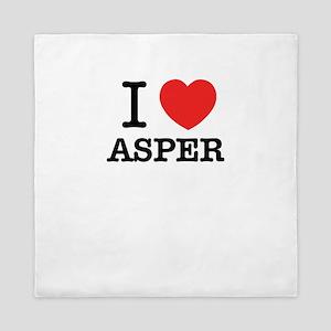 I Love ASPER Queen Duvet