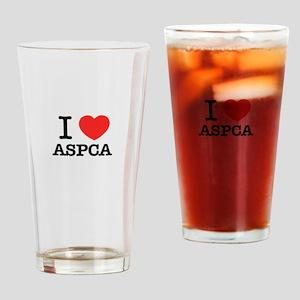 I Love ASPCA Drinking Glass