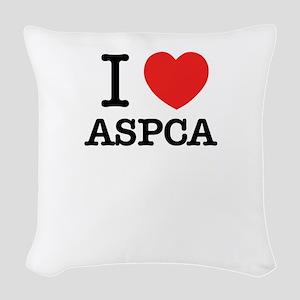 I Love ASPCA Woven Throw Pillow