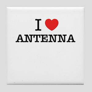 I Love ANTENNA Tile Coaster