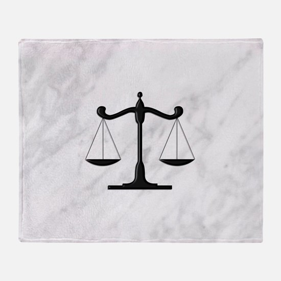 Scales of Justice Throw Blanket