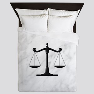 Scales of Justice Queen Duvet