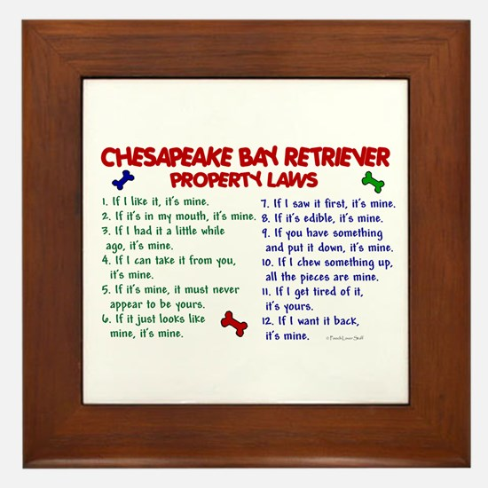 Chesapeake Bay Retriever Property Laws 2 Framed Ti