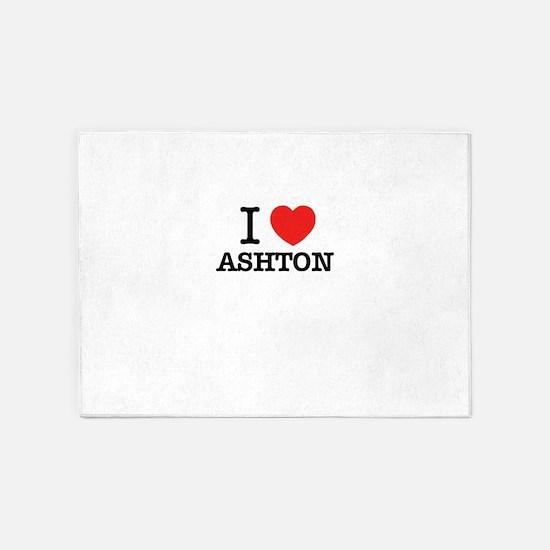 I Love ASHTON 5'x7'Area Rug