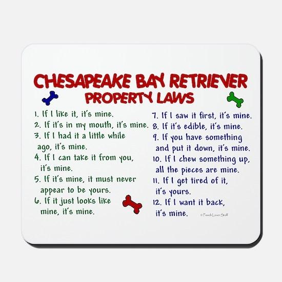 Chesapeake Bay Retriever Property Laws 2 Mousepad