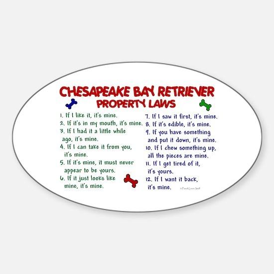 Chesapeake Bay Retriever Property Laws 2 Decal