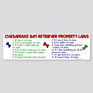 Chesapeake Bay Retriever Property Laws 2 Sticker (