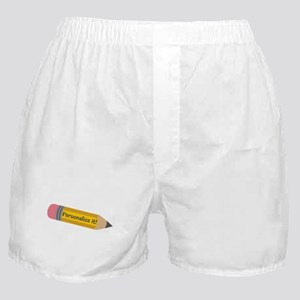 PERSONALIZED Cute Pencil Boxer Shorts