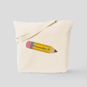 PERSONALIZED Cute Pencil Tote Bag