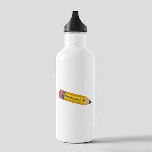 PERSONALIZED Cute Pencil Water Bottle