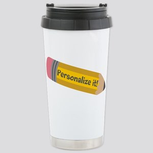 PERSONALIZED Cute Pencil Travel Mug