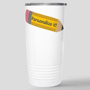 PERSONALIZED Cute Pencil Travel Mug