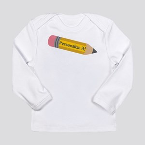PERSONALIZED Cute Pencil Long Sleeve T-Shirt