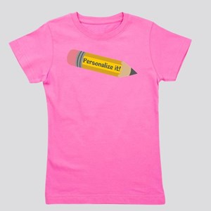 PERSONALIZED Cute Pencil Girl's Tee