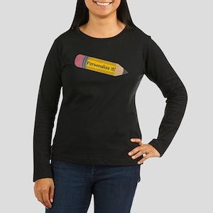 PERSONALIZED Cute Pencil Long Sleeve T-Shirt