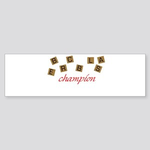 Scrabble Champion Bumper Sticker