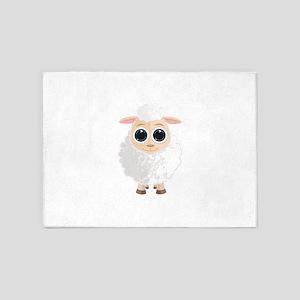 White Sheep 5'x7'Area Rug