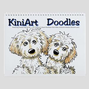KiniArt Doodle Dog Art Wall Calendar