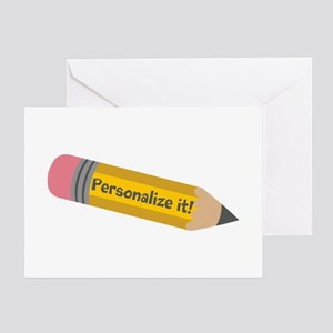 PERSONALIZED Cute Pencil Greeting Cards
