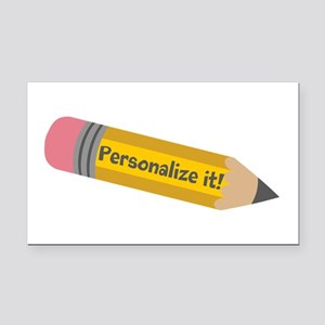 PERSONALIZED Cute Pencil Rectangle Car Magnet