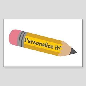 PERSONALIZED Cute Pencil Sticker