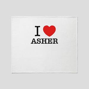 I Love ASHER Throw Blanket
