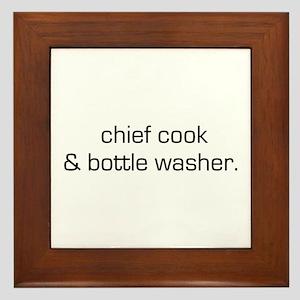 Chief Cook/Bottle Washer Framed Tile