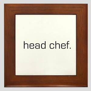 Head Chef Framed Tile