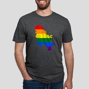Rainbow Pride Flag Serbia Map T-Shirt