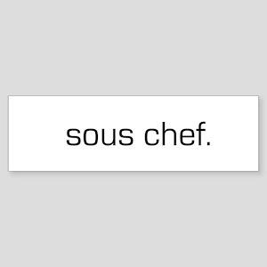 Sous Chef Bumper Sticker