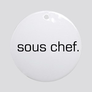 Sous Chef Ornament (Round)