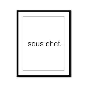 Sous Chef Framed Panel Print