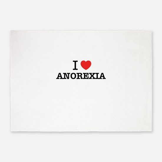 I Love ANOREXIA 5'x7'Area Rug