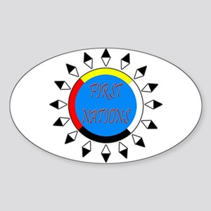 First Nations Oval Sticker