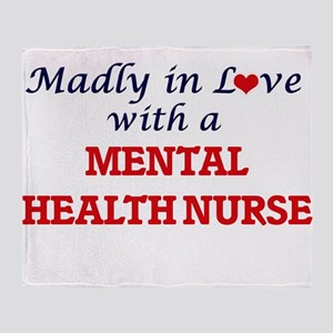 Madly in love with a Mental Health N Throw Blanket