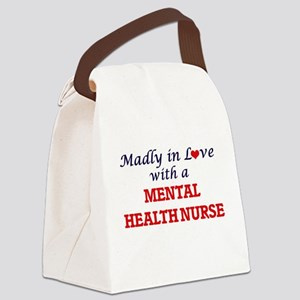 Madly in love with a Mental Healt Canvas Lunch Bag
