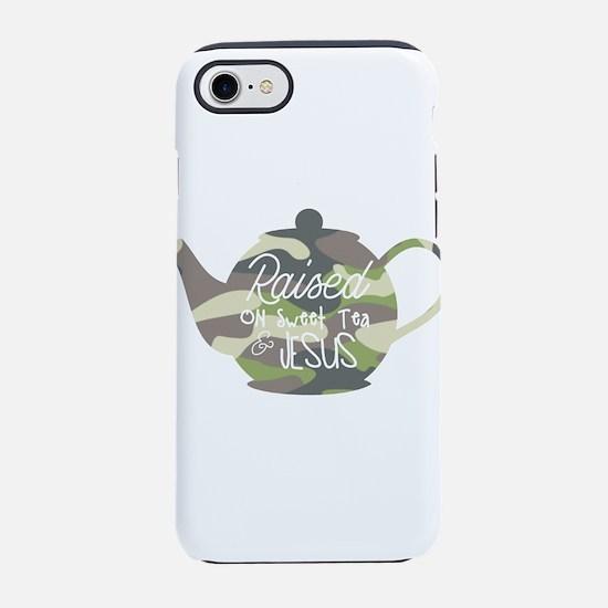 raised on sweet tea and Jesu iPhone 8/7 Tough Case