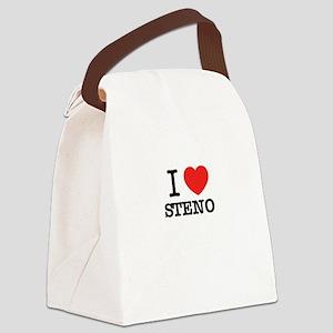 I Love STENO Canvas Lunch Bag