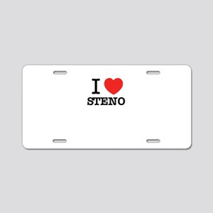 I Love STENO Aluminum License Plate