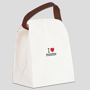 I Love PIGGIES Canvas Lunch Bag