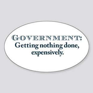 Government Oval Sticker